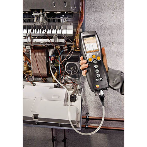 Testo 330-2G-LL-KIT1 Light Industrial Combustion Analyzer Kit #1 - Long Life Sensors (View of 330-2G LL in Use)