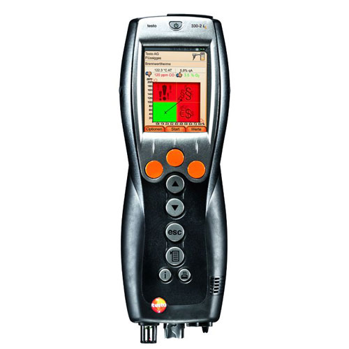 Testo 330-2G-LL-KIT1 Light Industrial Combustion Analyzer Kit #1 - Long Life Sensors (View of 330-2G LL Combustion Analyzer)