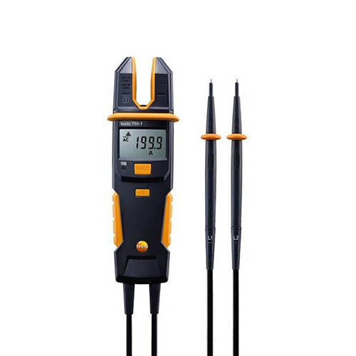 Testo 755-1 Current/Voltage Meter with Resistance and Continuity, 600V AC/DC, 200A AC