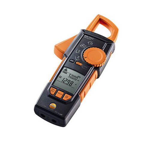 Testo 770-2 (0590 7702) True-RMS AC/DC Clamp Meter, 400A, with Inrush, and Temperature