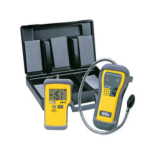 gas manometer. click for larger image uei lpkit leak and pressure test kit, includes cd100a gas detector, em152 manometer
