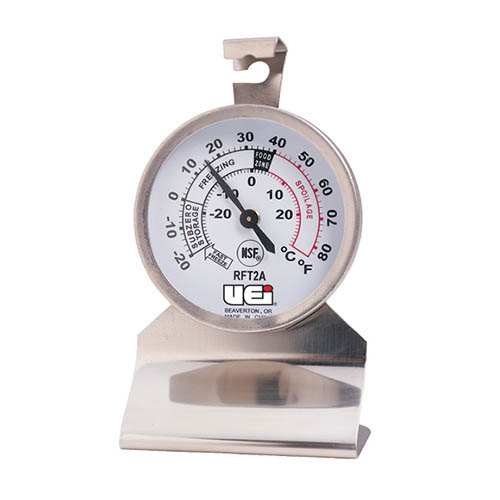 UEI RFT2A Refrigerator / Freezer Thermometer, Temperature Range -20˚ to 80˚F