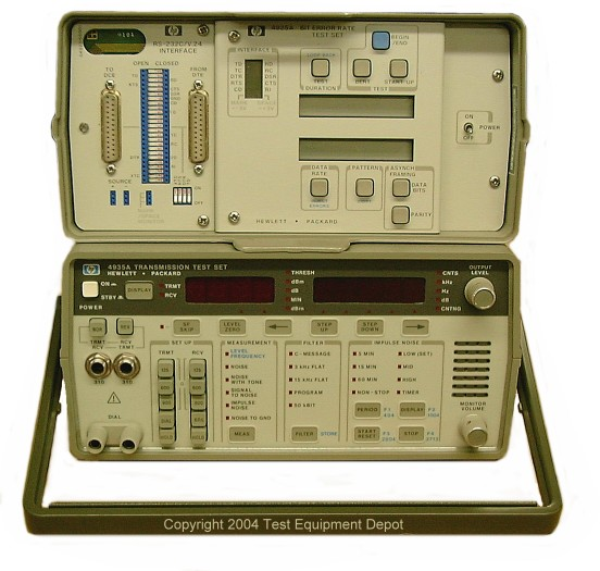 Used Test Equipment : Hewlett packard a and transmission