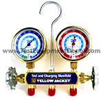 Click here for larger image of the Yellow Jacket 42332 Brass R404A Manifold