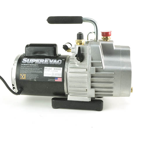 Yellow Jacket 93567 SuperEvac 1/2 hp Vacuum Pump, 142 L/M at 50 Hz, 230 VAC UK Plug